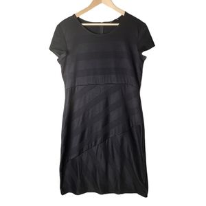 NWT Jessica black short-sleeve knit ribbed dress
